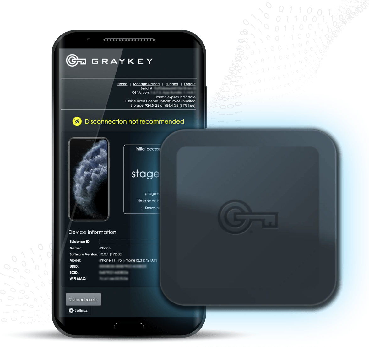 GrayKey Device Mobile Device Forensics Tool